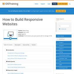 How to Build Responsive Websites