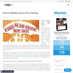 How to Build a Scam Free Family