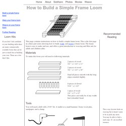 How to Build a Simple Frame Loom
