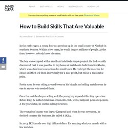 How to Build Skills That Are Valuable