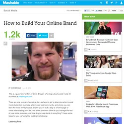 How to Build Your Online Brand
