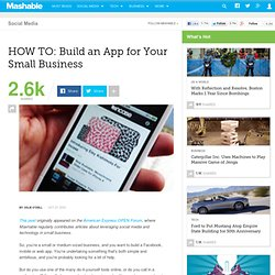 HOW TO: Build an App for Your Small Business