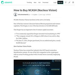 How to Buy NCASH (Nucleus Vision)
