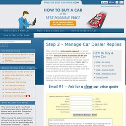 How to Buy a New Car - Step 2