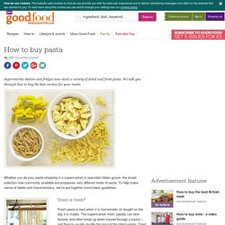 How to buy pasta