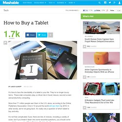 How to Buy a Tablet