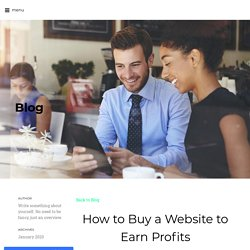 How to Buy a Website to Earn Profits