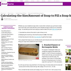 How to Calculate the Volume of a Soap Mold