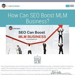 How can SEO Boost MLM Business? What is SEO?