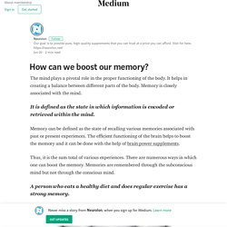 How can we boost our memory?