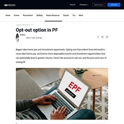 How can employee opt out of an EPF?
