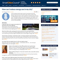 How can I reduce energy use in my city?
