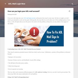 How can you login your AOL mail account?