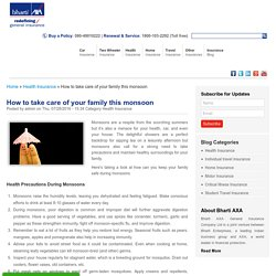 How to take care of your family this monsoon