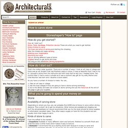 How to carve stone | Architecturals.net