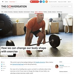 How we can change our body shape with exercise