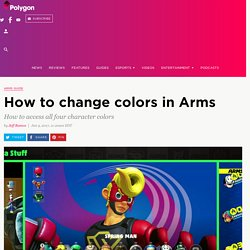How to change colors in Arms - Polygon
