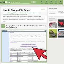 How to Change File Dates: 11 Steps