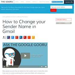 How to Change your Sender Name in Gmail