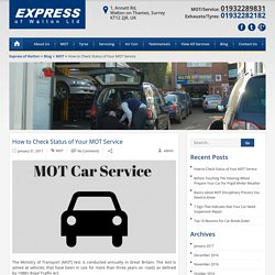 How to Check Status of Your MOT Service