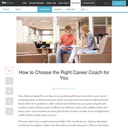 How to Choose the Right Career Coach for You