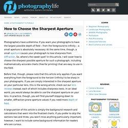 How to Choose the Sharpest Aperture