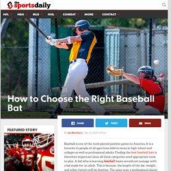 Choosing the Right Bat