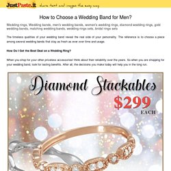 How to Choose a Wedding Band for Men?