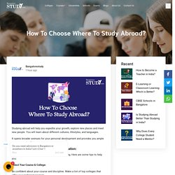 How To Choose Where To Study Abroad?