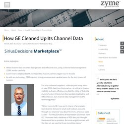 How GE Cleaned Up Its Channel Data