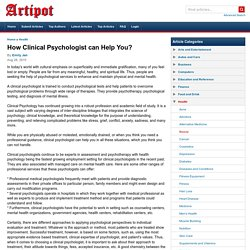How Clinical Psychologist can Help You?
