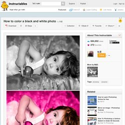 How to color a black and white photo