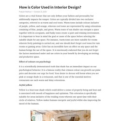 How is Color Used in Interior Design?