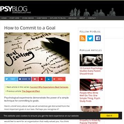 How to Commit to a Goal
