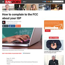 Complaining to FCC About Your ISP
