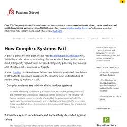How Complex Systems Fail