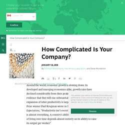 How Complicated is your Company?