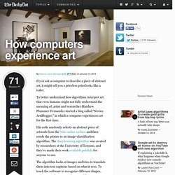 How computers experience art