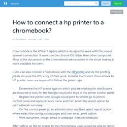 How to connect a hp printer to a chromebook?