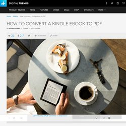 Convert Kindle to PDF