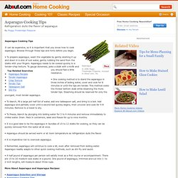 Asparagus Cooking Tips - How to cook asparagus