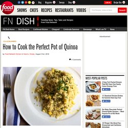 How to Cook the Perfect Pot of Quinoa
