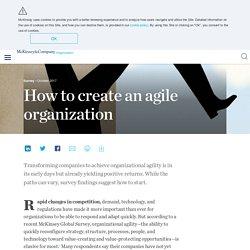 How to create an agile organization