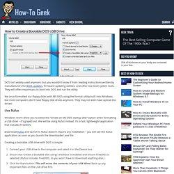 how to geek create bootable dos usb