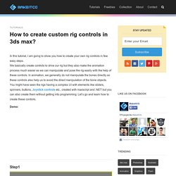 How to create custom rig controls in 3ds max?