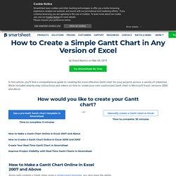 Gantt Chart Excel - Test