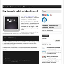 How to create an Init script on Centos 6 -