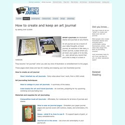 How to create and keep an art journal