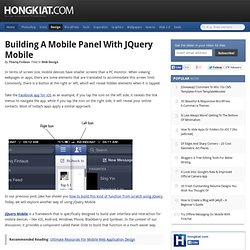 How to Create a Mobile Panel with jQuery Mobile