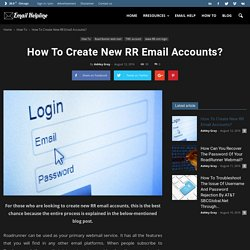 How To Create New RR Email Accounts?
